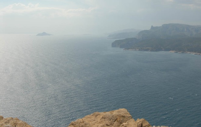 View of Cassis bay, near Marseilles