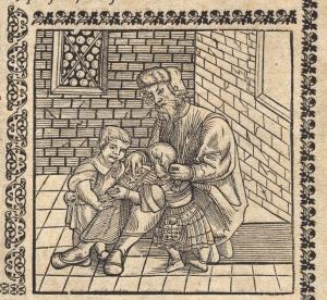 An idealised image of a Renaissance schoolmaster