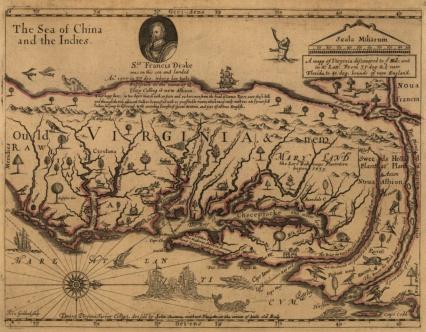 A mapp of Virginia