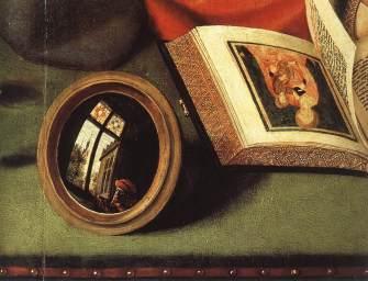 Detail from Massys, The Moneylender