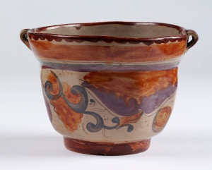As well as chocolate, highly-polished earthenware vessels from Tonalá, in the Mexican state of Jalisco, were admired by the colonial settlers and exported to Europe in quantities from the early 17th century. This fine example is held in the V&A.