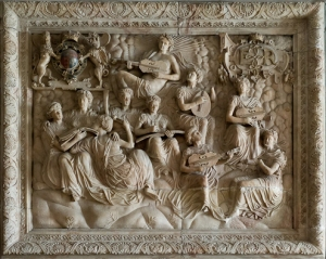 Alabaster overmantel, Withdrawing Chamber